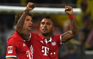 Vidal, celebrando su gol al Borussia Dortmund.