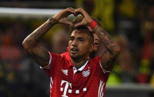 Vidal dedica su gol ante el Dortmund.