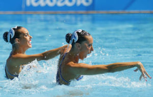 Ona Carbonell y Gemma Mengual durante un ejercicio en R�o.