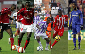 Henok Goitom, con los colores de los cinco equipos en los que jug� en...