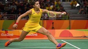 Carolina Marín durante el partido de los Juegos Olímpicos de Río...