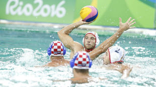 El waterpolo español en la última derrota olímpica en Río