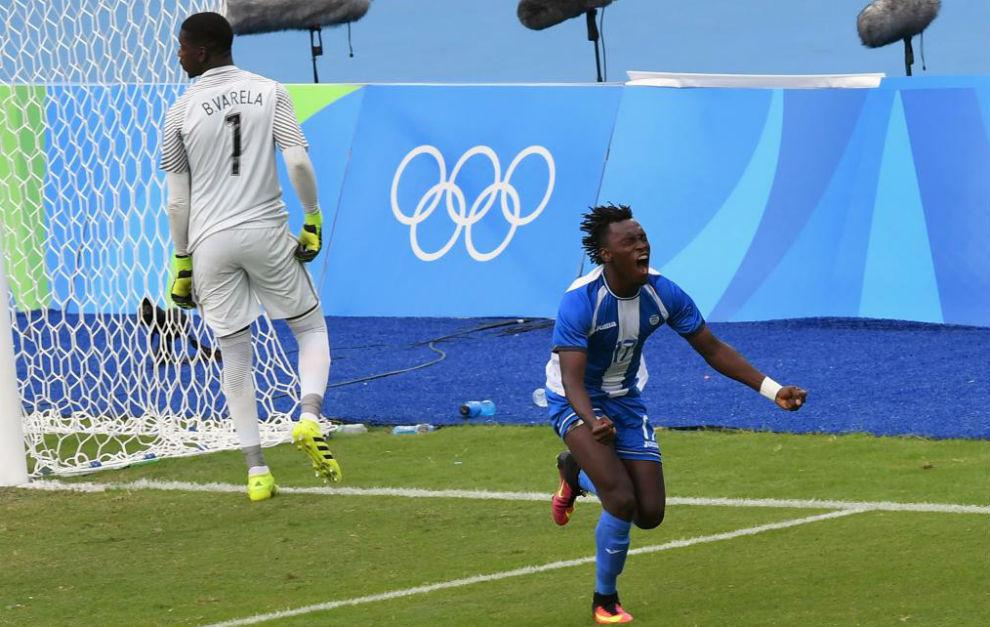 Alberth Elis celebra el gol que marcó contra Corea del Sur.