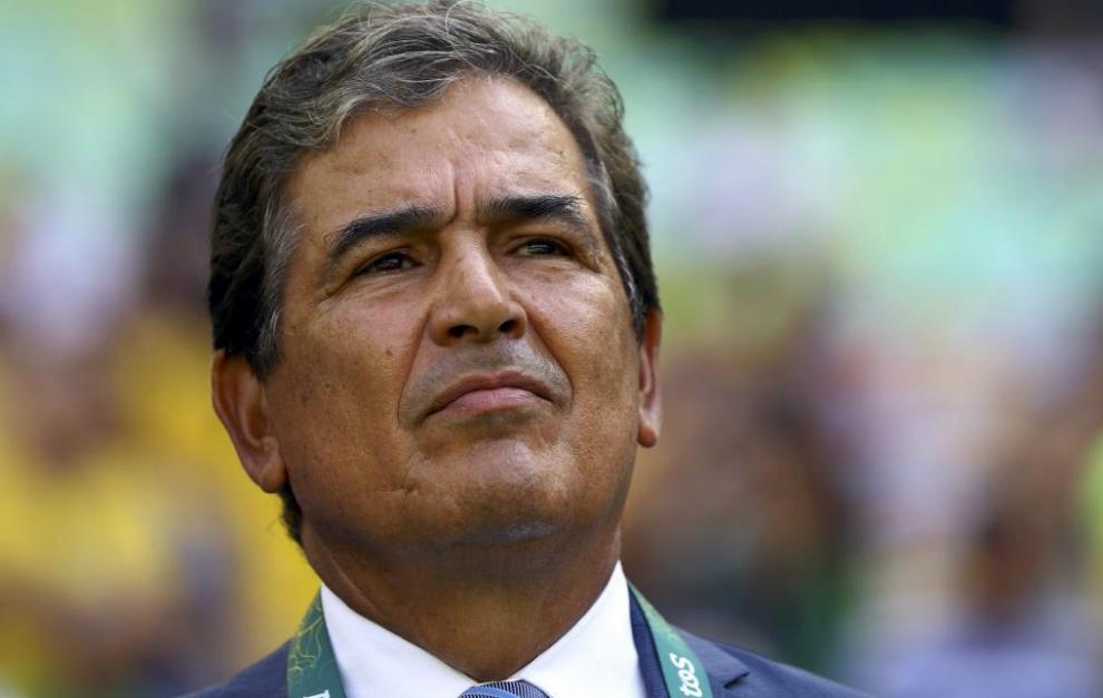 Jorge Luis Pinto en el duelo ante Brasil