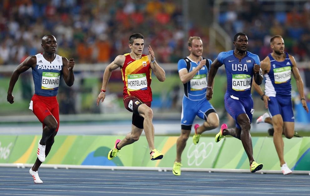 Bruno Hortelano en su semifinal de los 200