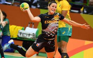 Macarena Aguilar, en el partido frente a Brasil de la primera fase del...