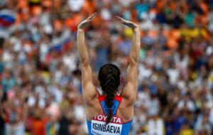 Isinbayeva, en competici�n, en una imagen de archivo.