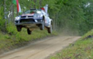 Ogier, durante el pasado Rally de Polonia.