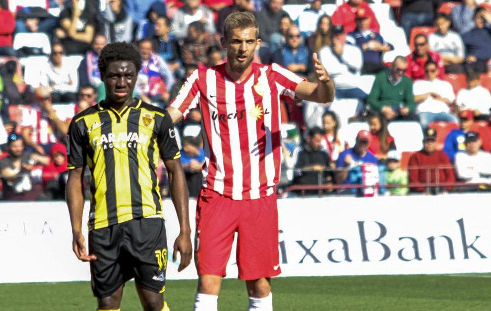 Saveljich (25), durante un partido del pasado curso con el Almería.