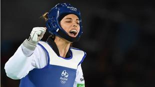 La reacción de Eva Calvo tras ganas su combate con Irán Kimia...