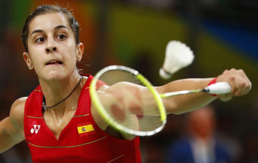 Carolina Marín, en la final olímpica de Río.
