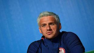 Lochte, en una conferencia de prensa durante los Juegos.