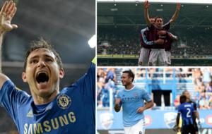 Lampard en distintas etapas de su carrera