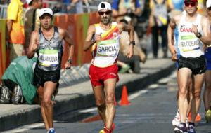 Jes�s �ngel Garc�a Bragado durante los 50 km marcha en R�o.