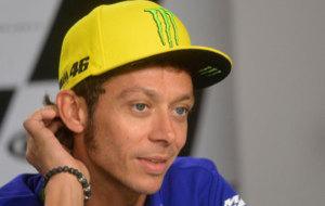Valentino Rossi, durante la rueda de prensa previa al GP de la...