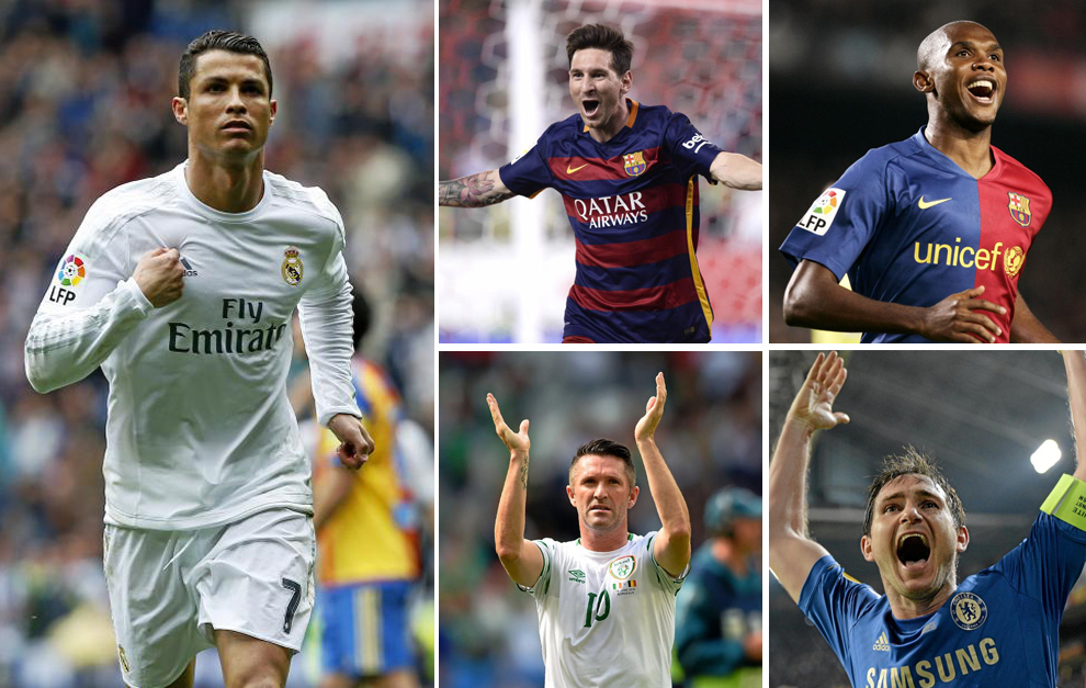 Lampard joins Ronaldo and Messi in the 300 goals club