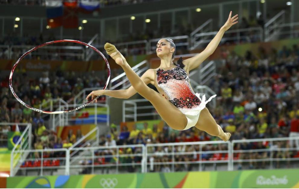 Carolina en un momento de su concurso en aro.