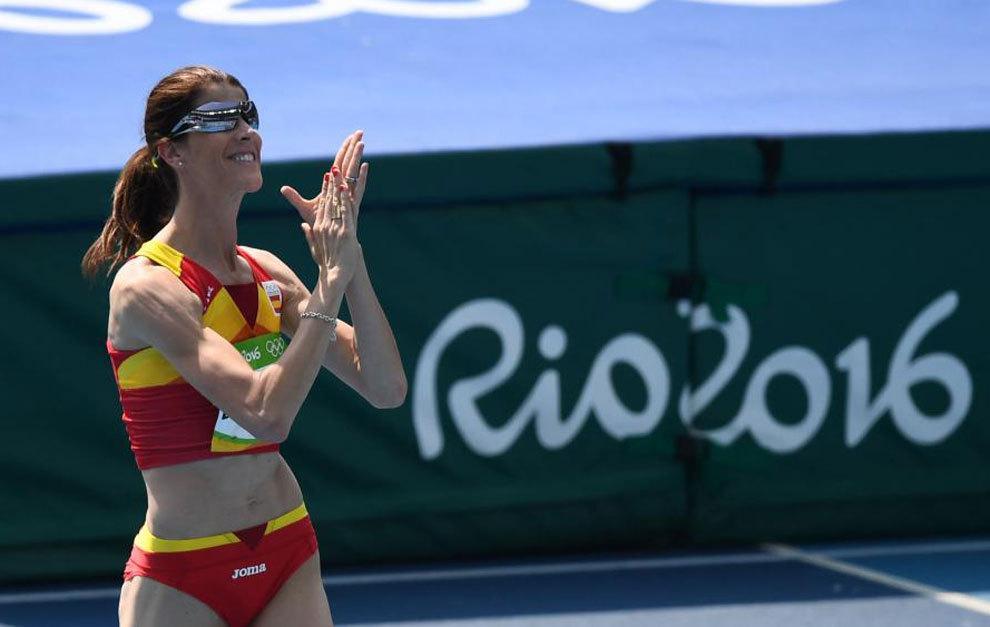 Ruth Beitia tras su actuación en los Juegos de Río