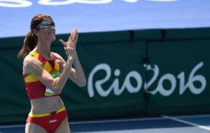 Ruth Beitia tras su actuaci�n en los Juegos de R�o