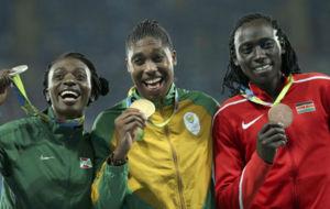 Niyonsaba, Semenya y Wambui, en el podio de R�o de 800