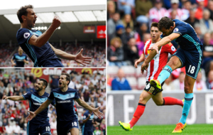 Stuani marc� su primer gol en la Premier con un zapatazo a la...