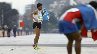 La llegada de Federico Bruno a la meta del maratón