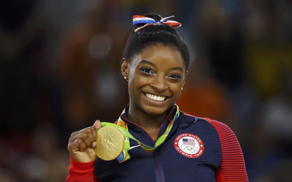 Simone Biles durante su participación en los Juegos de Río.