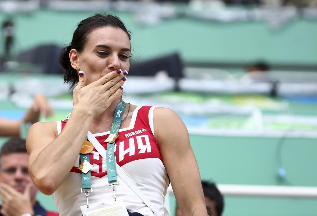 Yelena Isinbayeva en el Estadio Olímpico de Río.