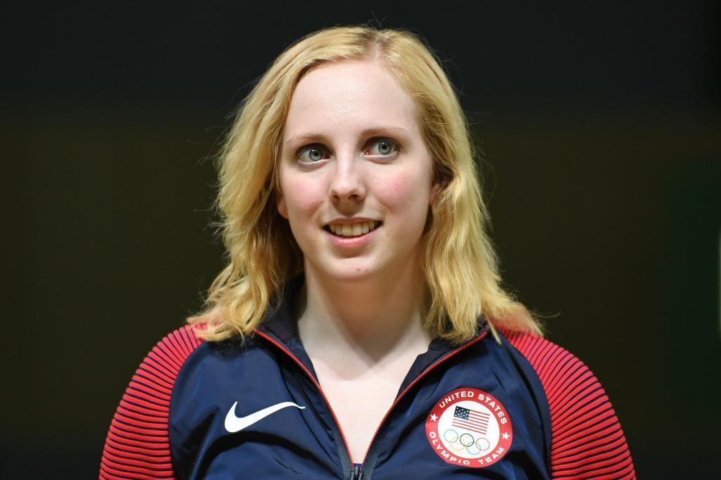 Virginia Thrasher durante su participación en los Juegos de Río.