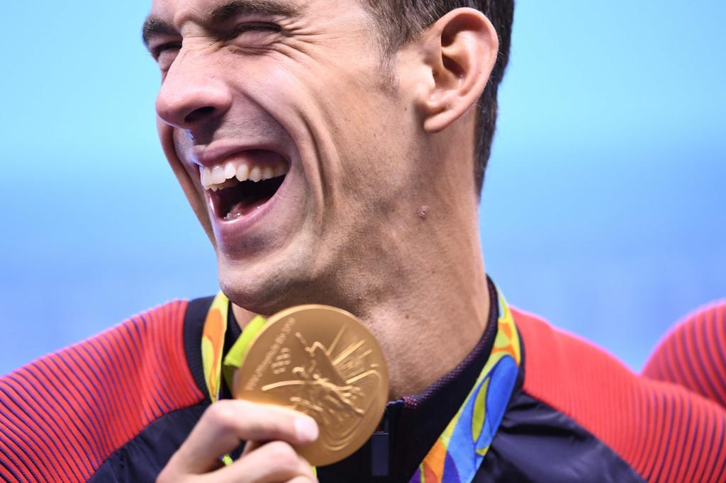 Michael Phelps durante su participación en los Juegos de Río.