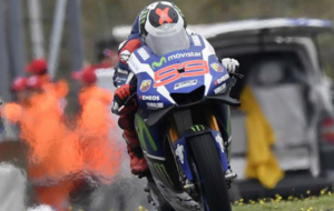 Jorge Lorenzo acab� �ltimo en la carrera