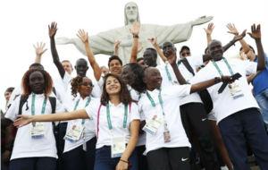 Miembros del equipo de refugiados en Río