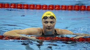 La australiana Cate Campbell, durante una prueba en los Juegos.