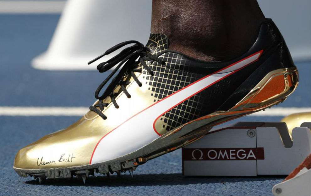 Una de las zapatillas que ha usado Bolt en los Juegos.