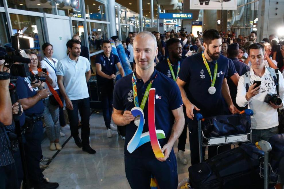 El portero del equipo francés de balonmano, Thierry Omeyer, en el...