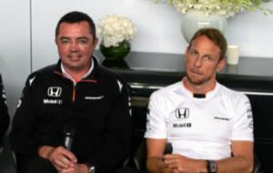 Boullier y Button durante el pasado GP de Canad�