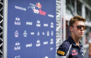 Kvyat durante el GP de Alemania
