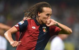 Laxalt celebra un gol con el Genoa