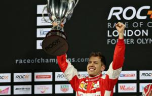Vettel celebra el triunfo en la �ltima edici�n celebrada en Londres