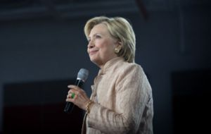 Hillary Clinton en campa�a electoral