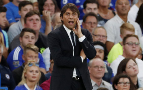 Chelsea manager Antonio Conte during a match against Bristol Rovers.