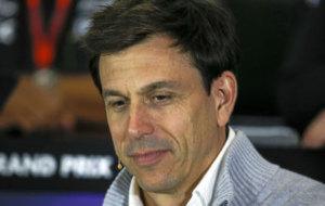 Wolff, durante la rueda de prensa del GP de Gran Breta�a