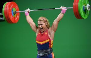 Lydia Valent�n, durante una competici�n en los Juegos de R�o de...