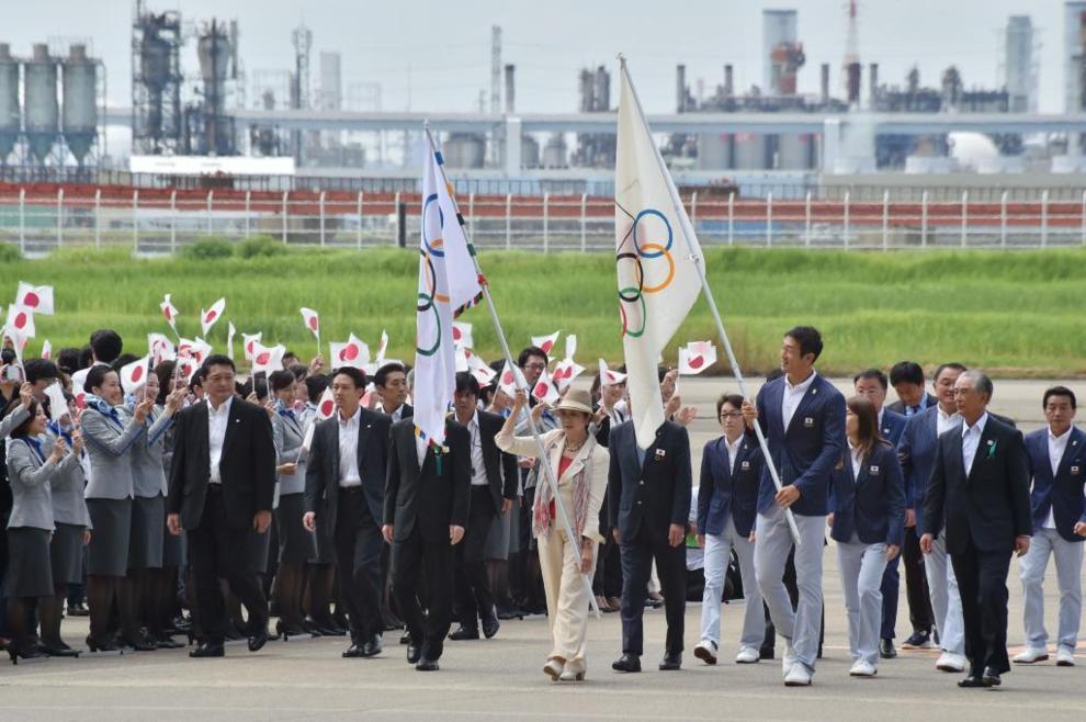 La bandera olímpica ya esta en Tokio