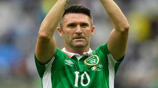 Keane, en uno de sus últimos partidos con Irlanda.