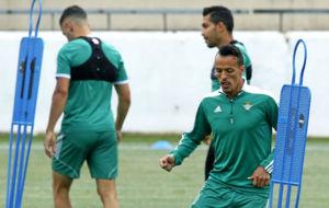 Kadir, en un entrenamiento