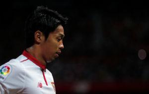 Kiyotake, en un partido con el Sevilla