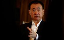 Wang Jianlin, chairman of the Wanda Group, speaks during an interview...