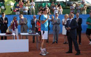Garc�a L�pez durante la �ltima entrega de premios.