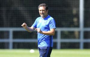 Eusebio, en el entrenamiento de la Real Sociedad.